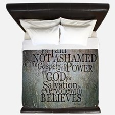 ROMANS 1:16 Not Ashamed King Duvet