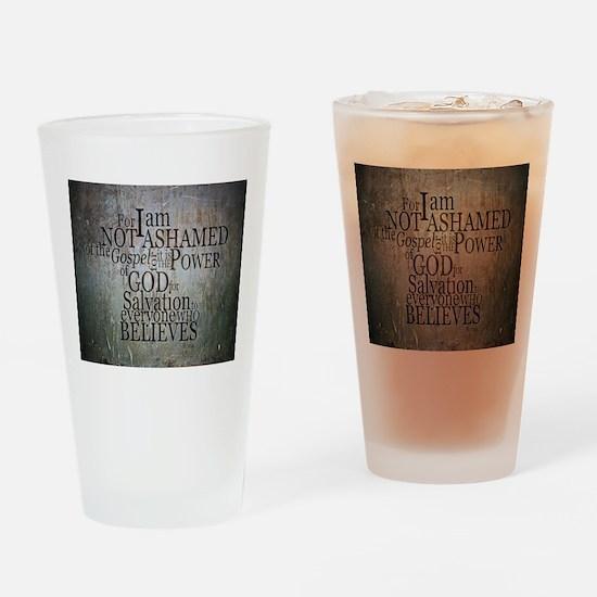 ROMANS 1:16 Not Ashamed Drinking Glass