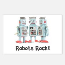 Robots Rock! Postcards (Package of 8)