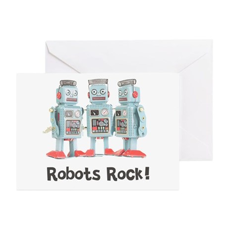 Robots Rock! Greeting Cards (Pk of 10)