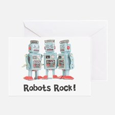 Robots Rock! Greeting Card