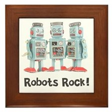 Robots Rock! Framed Tile