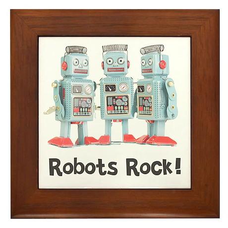 Robots Rock! Framed Tile
