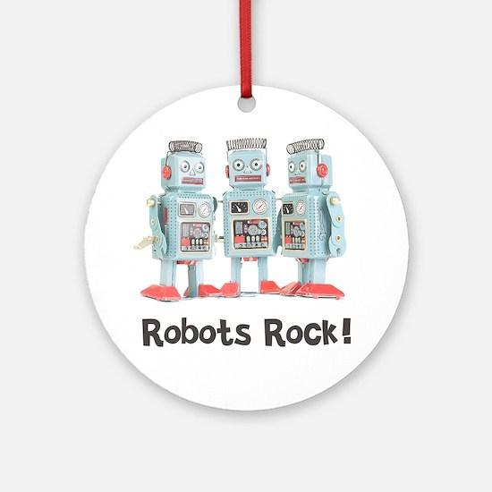 Robots Rock! Ornament (Round)