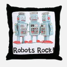 Robots Rock! Throw Pillow