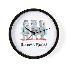 Robots Rock! Wall Clock