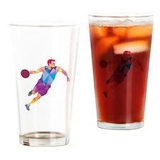 Basketball Player Dribble Front Low Polygon Drinki