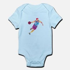 Basketball Player Dribble Front Low Polygon Body S