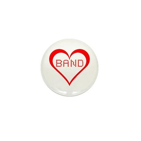 Band Hearts Mini Button