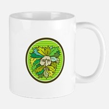 Green Man Foliate Head Circle Retro Mugs