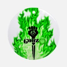 Gonzo Green Round Ornament