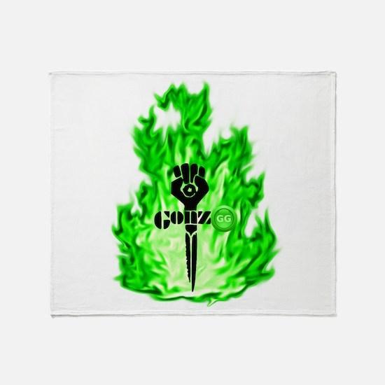 Gonzo Green Throw Blanket