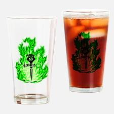 Gonzo Green Drinking Glass