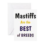 Mastiff Dog Best Of Breed Greeting Cards