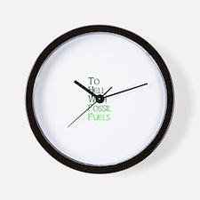 Gonzo Green 3 Wall Clock