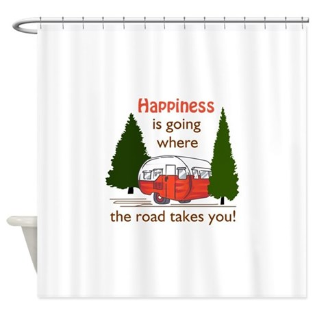 Where Road Takes You Shower Curtain By Greatnotions36