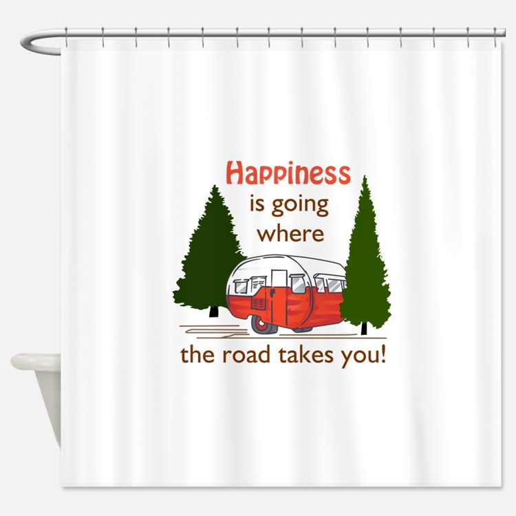 Where Road Takes You Shower Curtain