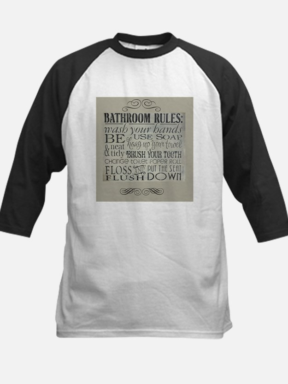 bathroom rules Baseball Jersey