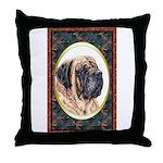 Mastiff Dog Designer Throw Pillow 3