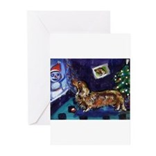 Unique Dachshund christmas tree Greeting Cards (Pk of 20)