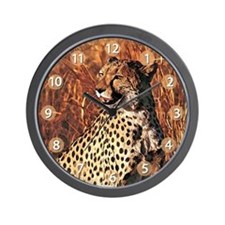 Cheetah 01 Wall Clock