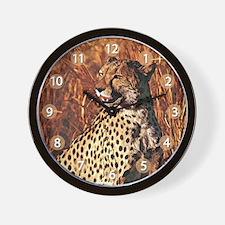 Cheetah 01 Wall Clock