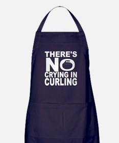 There's No Crying In Curling Apron (dark)