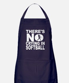 There's No Crying In Softball Apron (dark)