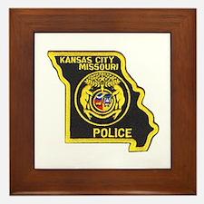 Kansas City Police Framed Tile