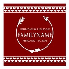 """Personalized Names and F Square Car Magnet 3"""" x 3"""""""