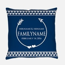 Personalized Names Monogram Weddin Everyday Pillow