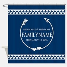 Personalized Names Monogram Wedding Shower Curtain