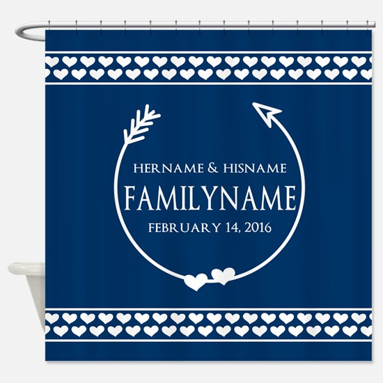 Personalized Names Monogram Wedding Shower Curtain