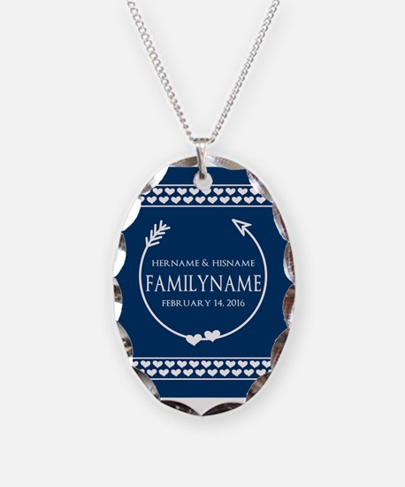 Personalized Names Monogram We Necklace