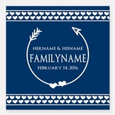 "Personalized Names Monog Square Car Magnet 3"" x 3"""