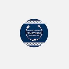 Personalized Names Monogram Wedding Mini Button