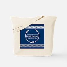 Personalized Names Monogram Wedding Tote Bag