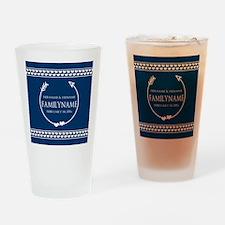 Personalized Names Monogram Wedding Drinking Glass