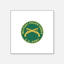 "Unique Military police Square Sticker 3"" x 3"""