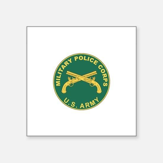 "Cute Military police Square Sticker 3"" x 3"""