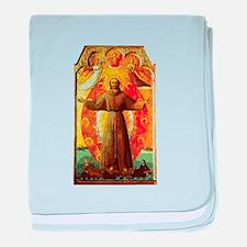 Ecstasy of Saint Francis baby blanket