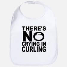 There's No Crying In Curling Bib