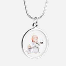 Cute Christmas Baby Angel And Cat Necklaces