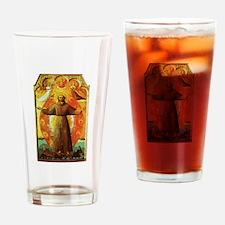 Ecstasy of Saint Francis Drinking Glass