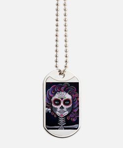 Unique Sugar skull Dog Tags