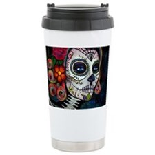 Cute Pink skulls Travel Mug