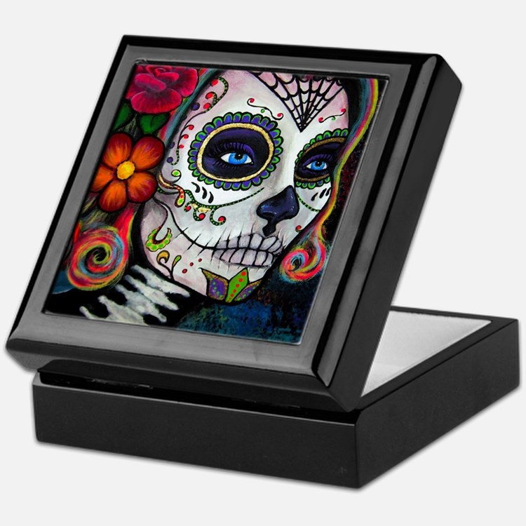 Cute Sugar skull Keepsake Box