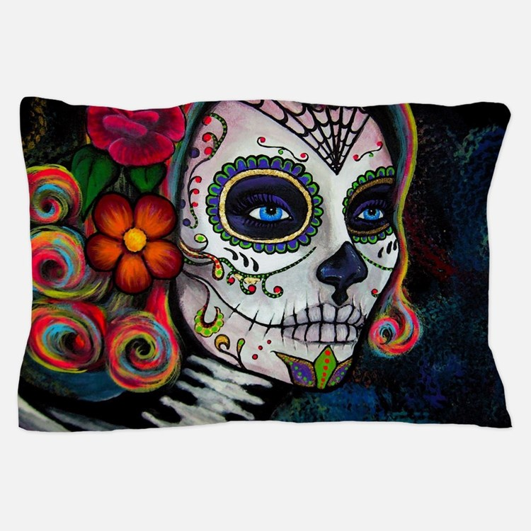 Cute Sugar skull Pillow Case