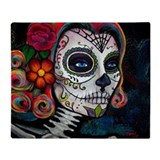 Sugar skull Fleece Blankets