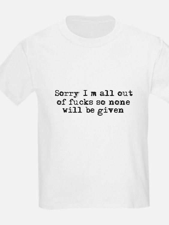 No fucks were given T-Shirt